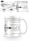 Star Wars X-Wing Fighter Sketch Boxed Mug - Merchandise