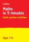 Letts Maths in 5 Minutes a Day Age 7-8 - Book