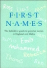 First Names Definitive Guide to Popular Names - Book