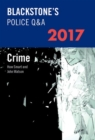 Blackstone's Police Q&A: Crime 2017 - Book