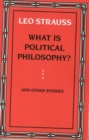 What is Political Philosophy? - Book