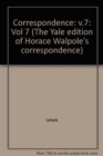 The Yale Editions of Horace Walpole's Correspondence, Volume 7 : With Madame Du Deffand and Wiart, V - Book