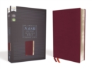 NASB, Thinline Bible, Bonded Leather, Burgundy, Red Letter Edition, 1995 Text, Comfort Print - Book