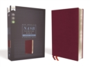 NASB, Thinline Bible, Large Print, Bonded Leather, Burgundy, Red Letter Edition, 1995 Text, Comfort Print - Book