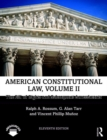 American Constitutional Law, Volume II : The Bill of Rights and Subsequent Amendments - Book
