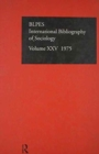 IBSS: Sociology: 1975 Vol 25 - Book