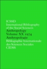 IBSS: Anthropology: 1974 Vol 20 - Book
