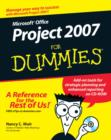 Microsoft Office Project 2007 For Dummies - Book