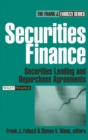 Securities Finance : Securities Lending and Repurchase Agreements - Book