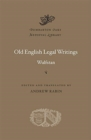 Old English Legal Writings - Book