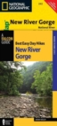 Best Easy Day Hiking Guide and Trail Map Bundle: New River Gorge - Book