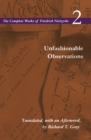 Unfashionable Observations : Volume 2 - Book