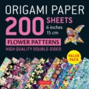 "Origami Paper 200 sheets Flower Patterns 6"" (15 cm) : High-Quality Double Sided Origami Sheets Printed with 12 Different Designs (Instructions for 6 Projects Included) - Book"