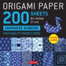 "Origami Paper 200 sheets Japanese Shibori 8 1/4"" (21 cm) : Extra Large Tuttle Origami Paper: High Quality, Double-Sided Sheets (12 Designs & Instructions for 6 Projects Included) - Book"