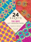 "24 sheets of Tie-Dye Gift Wrapping Paper : High-Quality 18 x 24"" (45 x 61 cm) Wrapping Paper - Book"