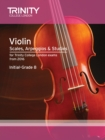 Violin Scales, Arpeggios & Studies Initial-Grade 8 from 2016 - Book