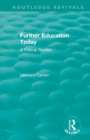 : Further Education Today (1979) : A Critical Review - Book