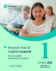 Practice Tests Plus PTE General A2 Paper based with Key with App & PEP Pack - Book