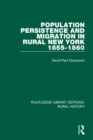 Population Persistence and Migration in Rural New York, 1855-1860 - eBook