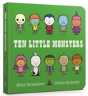 Ten Little Monsters Board Book - Book