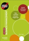 Need to Know: Higher Business Management - Book