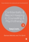 Confidentiality & Record Keeping in Counselling & Psychotherapy - Book