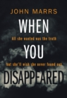 When You Disappeared - Book