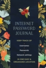 Internet Password Journal - Modern Floral - Book