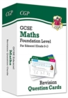 New Grade 9-1 GCSE Maths Edexcel Revision Question Cards - Foundation - Book