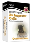 New Grade 9-1 GCSE English - An Inspector Calls Revision Question Cards - Book