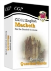 New Grade 9-1 GCSE English Shakespeare - Macbeth Revision Question Cards - Book