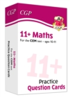 New 11+ CEM Maths Practice Question Cards - Ages 10-11 - Book