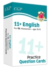 New 11+ GL English Practice Question Cards - Ages 10-11 - Book