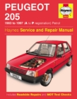 Peugeot 205 Petrol (83 - 97) A To P - Book
