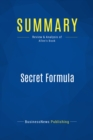 Summary: Secret Formula : Review and Analysis of Allen's Book - eBook