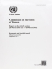 Commission on the Status of Women : report on the sixtieth session (20 March 2015 and 14-24 March 2016) - Book
