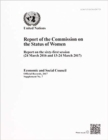 Commission on the Status of Women : report on the sixty-first session (24 March 2016 and 13-24 March 2017) - Book