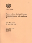 Report of the United Nations Commission on International Trade Law : Forty-third Session (21 June-9 July 2010) - Book