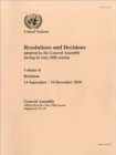Resolutions and Decisions Adopted by the General Assembly During Its Sixty-fifth Session : Vol. 2 - Book