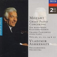 Mozart: Great Piano Concertos: Nos 20, 21, 23, 24 and 25, CD / Album Cd
