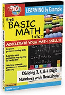 The Basic Math Tutor: Dividing 2, 3 and 4 Digit Numbers With..., DVD DVD