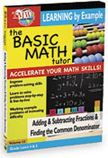The Basic Math Tutor: Adding and Subtracting Fractions And..., DVD DVD