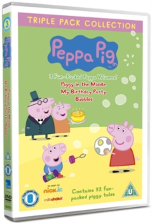 Peppa Pig: Piggy in the Middle/My Birthday Party/Bubbles, DVD  DVD