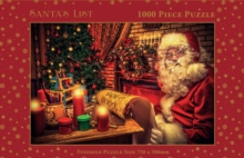 Vintage Santa's List 1000 Piece Round Jigsaw in Square Box, General merchandize Book