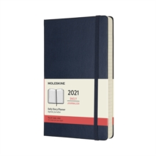 Moleskine 2021 12-Month Daily Large Hardcover Diary : Sapphire Blue, Diary Book