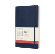 Moleskine 2021 12-Month Daily Large Softcover Diary : Sapphire Blue, Diary Book