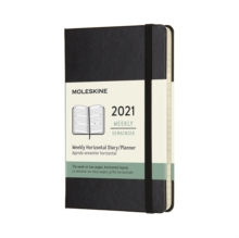 Moleskine 2021 12-Month Weekly Pocket Hardcover Horizontal Diary : Black, Diary Book