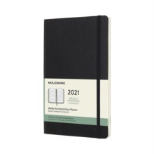 Moleskine 2021 12-Month Weekly Large Softcover Horizontal Diary : Black, Diary Book