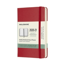 2021 18M WEEKLY POCKET HB RED, Paperback Book