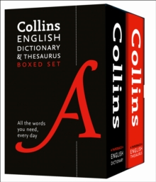 Collins English Dictionary and Thesaurus Boxed Set, Paperback Book